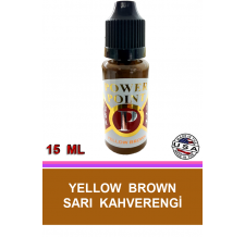 KALICI MAKYAJ BOYASI SARI KAHVERENGİ - POWER POINT YELLOW BROWN