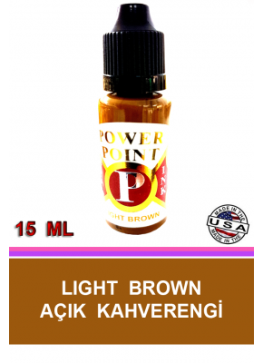 KALICI MAKYAJ BOYASI AÇIK KAHVERENGİ - POWER POINT LIGHT BROWN